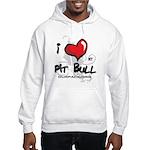 I Luv My Pit Bull Hooded Sweatshirt