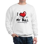 I Luv My Pit Bull Sweatshirt