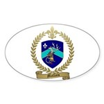 MALLAIS Family Crest Oval Sticker (10 pk)