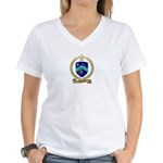 MALLAIS Family Crest Women's V-Neck T-Shirt