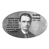 Steiner: Education School Oval Bumper Stickers