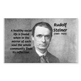 Steiner: Education School Rectangle Bumper Stickers