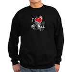 I Luv My Pit Bull Sweatshirt (dark)