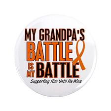 "My Battle Too (Grandpa) Orange 3.5"" Button"