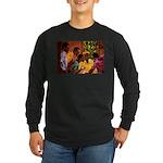 Jamaican Domino Players Long Sleeve Dark T-Shirt