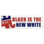 RNC Black is the New White? Bumper Sticker