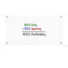 Irish & Korean % Banner