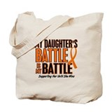 My Battle Too (Daughter) Orange Tote Bag