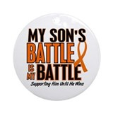 My Battle Too (Son) Orange Ornament (Round)