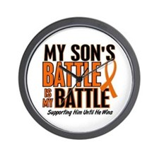 My Battle Too (Son) Orange Wall Clock