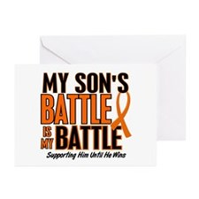 My Battle Too (Son) Orange Greeting Cards (Pk of 1