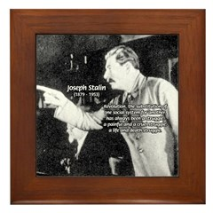 Joseph Stalin Revolution Framed Tile