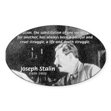 Joseph Stalin Revolution Oval Decal