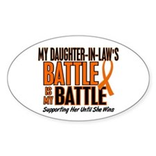 My Battle Too (Daughter-In-Law) Orange Decal