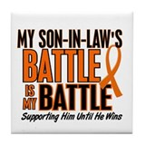 My Battle Too (Son-In-Law) Orange Tile Coaster