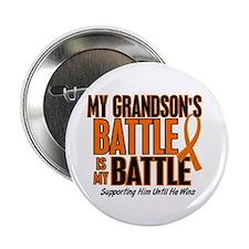 """My Battle Too (Grandson) Orange 2.25"""" Button"""