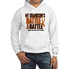 My Battle Too (Grandson) Orange Hoodie