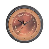 One Button Suits - Wall Clock