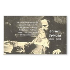Rationalist Baruch Spinoza Rectangle Decal