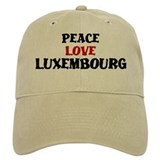 Peace Love Luxembourg Baseball Cap