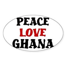 Peace Love Ghana Oval Decal