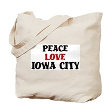 Peace Love Iowa City Tote Bag