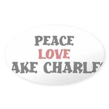 Peace Love Lake Charles Oval Decal