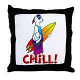 POLAR BEAR SURFER Throw Pillow
