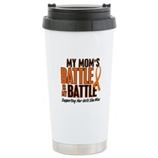 My Battle Too (Mom) Orange Ceramic Travel Mug