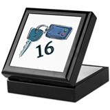 16th B-day Car Keys Keepsake Box