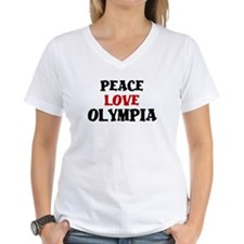 Peace Love Olympia Women's V-Neck T-Shirt