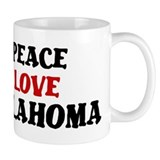 Peace Love Oklahoma Small Mugs