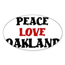Peace Love Oakland Oval Decal