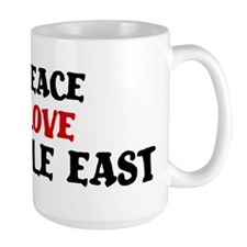 Peace Love Middle East Mug