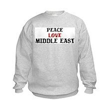 Peace Love Middle East Sweatshirt