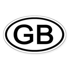 Great Britain - GB - Oval Oval Bumper Stickers