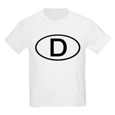 Germany - D - Oval Kids T-Shirt