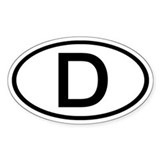 Germany - D - Oval Oval Bumper Stickers