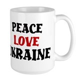 Peace Love Ukraine Mug