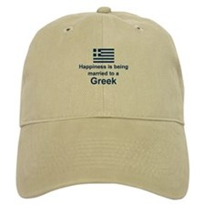 Happily Married To A Greek Baseball Cap
