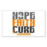 HOPE FAITH CURE Leukemia Rectangle Decal