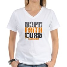 HOPE FAITH CURE Leukemia Shirt