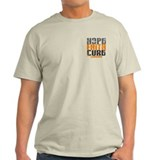 HOPE FAITH CURE Leukemia T-Shirt