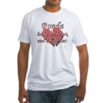 Ronda broke my heart and I hate her Fitted T-Shirt