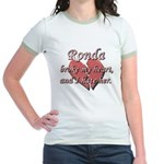 Ronda broke my heart and I hate her Jr. Ringer T-S