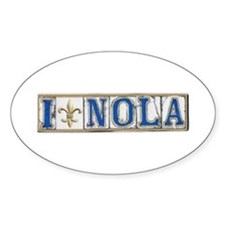 Love NOLA Oval Decal