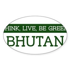 Green BHUTAN Oval Decal