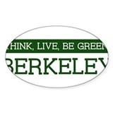 Green BERKELEY Oval Decal