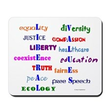 Liberal Values Mousepad
