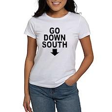Go Down South ↓ Womens T-Shirt